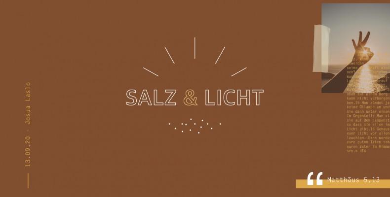 Predigtreihe: Salz & Licht